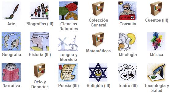 Iconos de materias de la Biblioteca III